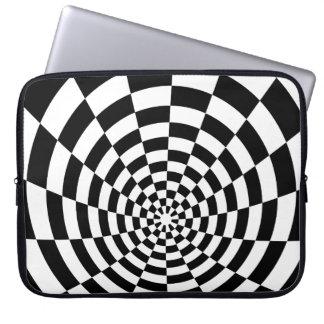 Rutigt rumsligt mönster för optisk illusion datorfodral