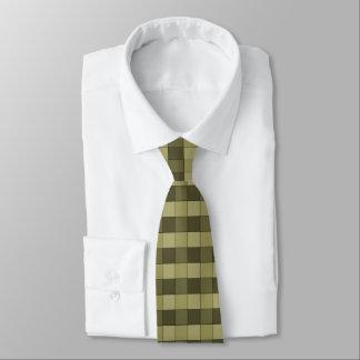 Rutigt skuggar av kakier kvadrerar mönstertien slips