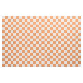 Rutigt tyg för orange och för vit