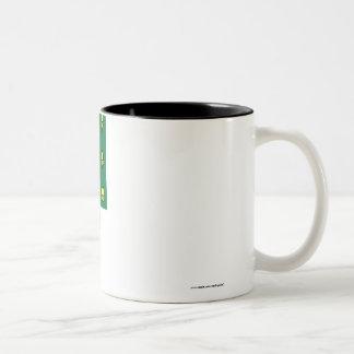Rutland flagga med namn Två-Tonad mugg