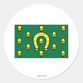 Rutland flagga runt klistermärke
