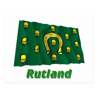 Rutland som vinkar flagga med namn vykort