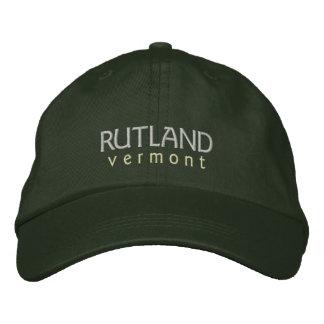 Rutland Vermont hatt Broderad Keps