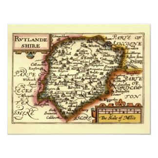 """Rutlandeshire"" (Rutlandshire) Rutland County 10,8 X 14 Cm Inbjudningskort"
