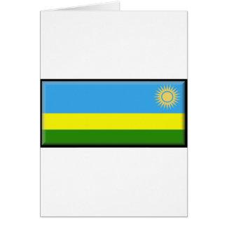 Rwanda flagga hälsningskort