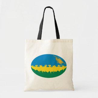 Rwanda hänger lös den Gnarly flagga Tygkasse