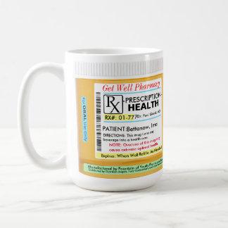 RX-recept för vård- Kaffemugg