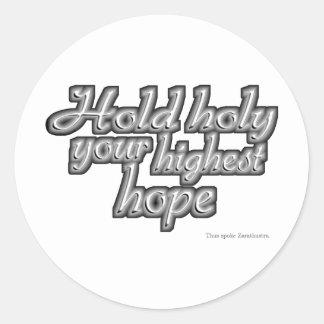 Rym heligan ditt högsta hopp (Nietzsche) Runt Klistermärke