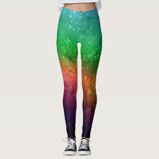 Rymden- och galaxdamasker leggings