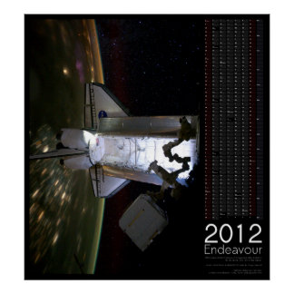 Rymdfärjasträvankalender 2012 poster