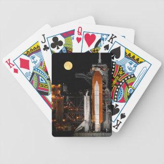 Rymdfärjaupptäckt och måne spelkort