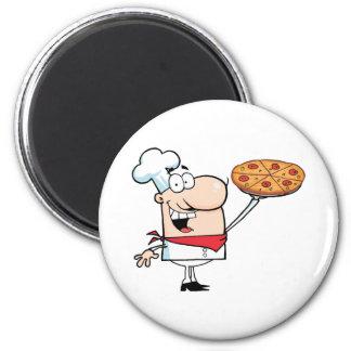 Rymmer den stolt kocken för snabbmat upp Pizza Magnet