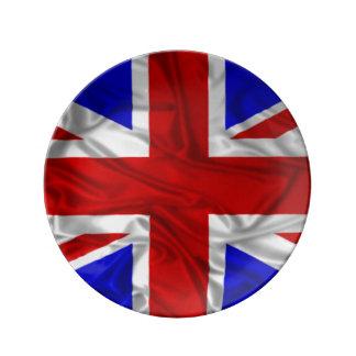 Rynkig facklig jackflagga porslinstallrik