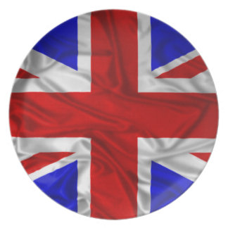 Rynkig facklig jackflagga tallrik