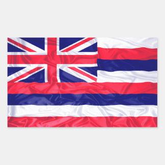 Rynkig Hawaii flagga Rektangulärt Klistermärke