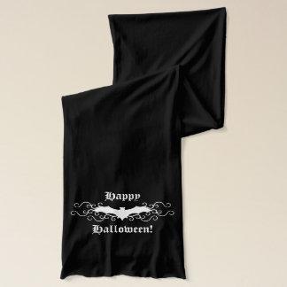 Ryschig Halloween fladdermössdesign Sjal