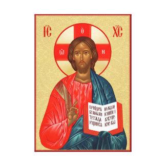 Rysk ortodox symbol av den Jesus Kristus Canvastryck