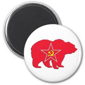 Rysk röd björnmagnet magnet
