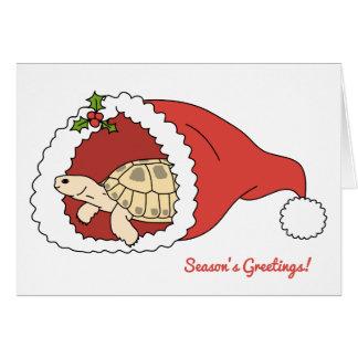 Rysk sköldpaddajulkort för anpassade hälsningskort