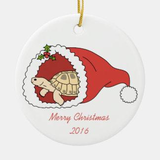 Rysk sköldpaddaprydnad för anpassade rund julgransprydnad i keramik