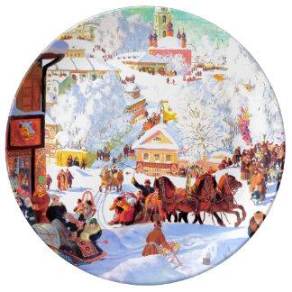 Rysk tallrikar för gåva för Art.Winter-platsjul