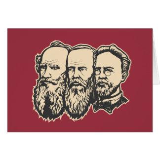 Rysk trojka: Tolstoy Dostoevsky, Chekhov Hälsningskort