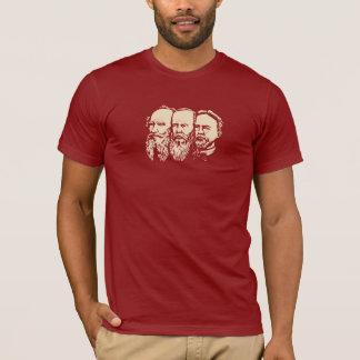 Rysk trojka: Tolstoy Dostoevsky, Chekhov Tshirts