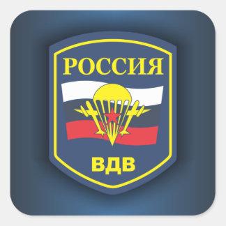 Ryska Luft-Landning soldater Fyrkantigt Klistermärke