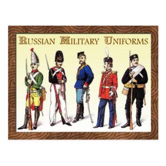 Ryska militära likformig vykort