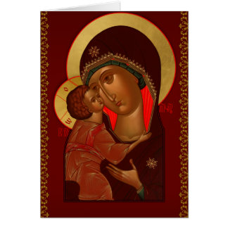Ryskt ortodoxt julhälsningkort hälsningskort
