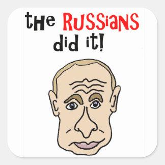 Ryssarna gjorde det den Putin tecknaden Fyrkantigt Klistermärke