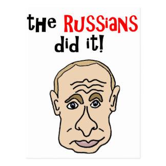 Ryssarna gjorde det den Putin tecknaden Vykort