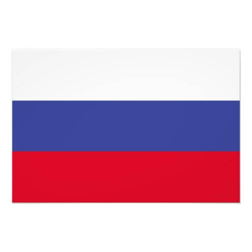Ryssland flagga fotografiska tryck