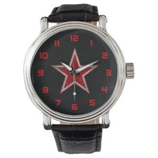 Ryssland röd stjärnaklocka armbandsur