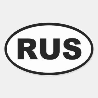 Ryssland RUS europé Ovalt Klistermärke