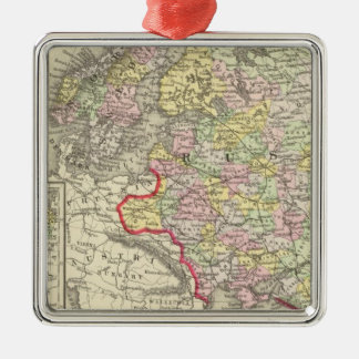 Ryssland sverige, norge julgransprydnad metall