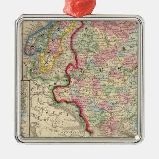 Ryssland sverige, norgekarta av Mitchell Julgransprydnad Metall