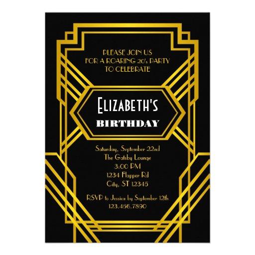 Ryta 20-talfödelsedaginbjudan personliga tillkännagivande