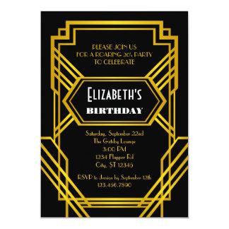 Ryta 20-talfödelsedaginbjudan 12,7 x 17,8 cm inbjudningskort