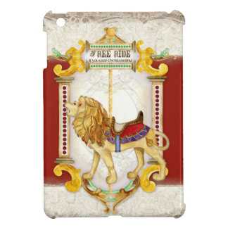Ryta lejon mässingsring, cirkuskarusellvintage iPad mini mobil skydd