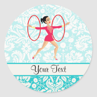 Rythmic gymnastikringar runt klistermärke