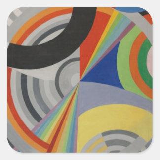 Rytm av Robert Delaunay Fyrkantigt Klistermärke