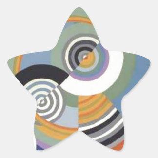 Rytm av Robert Delaunay Stjärnformat Klistermärke