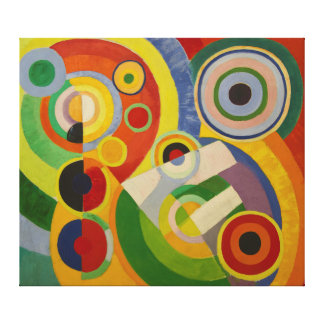 Rytm Joie de vivre av Robert Delaunay 1930 Canvastryck