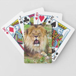Ryts lejona leka kort spelkort
