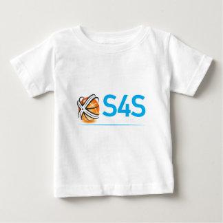 S4S-vit på svart Tee Shirts