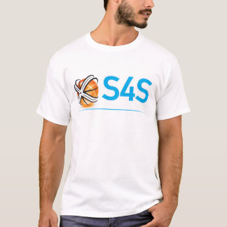 S4S-vit på svart Tshirts