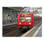 S - bahn Berlin, Tyskland. Metro. Vykort