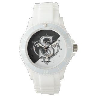 S - Modern metallisk Monogram Armbandsur