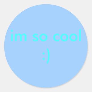 så coola im:) runda klistermärken